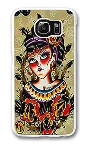 Girl portrait Custom Samsung Galaxy S6/Samsung S6 Case Cover Polycarbonate White
