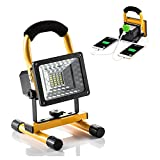 Vaincre 15W 24LED Outdoor Floodlight Camping Lights Portable LED Work Lights, Built-in Rechargeable Lithium Batteries with USB Ports to charge Mobile Devices