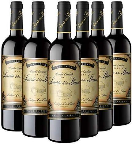 Señorío de los Llanos Reserva Vino Tinto D.O Valdepeñas - Pack de ...