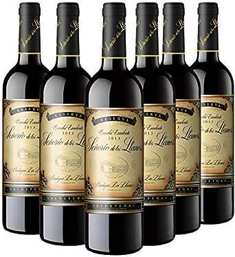 Señorío de los Llanos Reserva Vino Tinto D.O Valdepeñas - Pack de 6 Botellas x 750 ml: Amazon.es: Alimentación y bebidas
