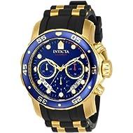 Men's 'Pro Diver' Swiss Quartz Stainless Steel and Polyurethane Sport Watch, Color:Black (Model:...
