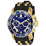 Invicta Men's 'Pro Diver' Swiss Quartz Stainless Steel and Polyurethane Sport Watch, Color:Black (Model: 6983)
