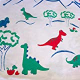 Toddler Pillowcase - 100% Organic Jersey Cotton. Made for our 2Kidz Pillow or any 13x18 Pillow. Perfect Size for Our Little Ones. Machine Washer and Dryer Safe. Made in USA. Friendly Dinosaurs.