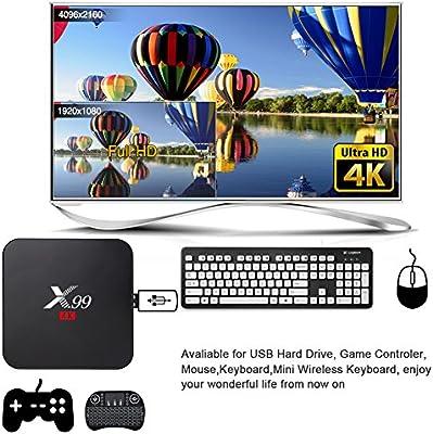 QcoQce X99 Smart TV BOX Android 5.1 OS Amlogic RK3229 1G/8G KODI 16.1 2.4G WIFI 4K: Amazon.es: Electrónica