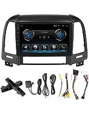 Samochodowe stereo 9in ekran dotykowy 2Din, nawigacja GPS odtwarzacz MP5 Multimedia pasuje do Hyundai Santa Fe 06-12