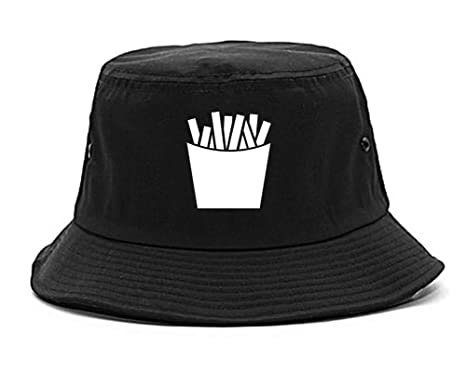 French Fry Fries Chest Mens Bucket Hat Cap Black at Amazon Men s ... 852ded6b629