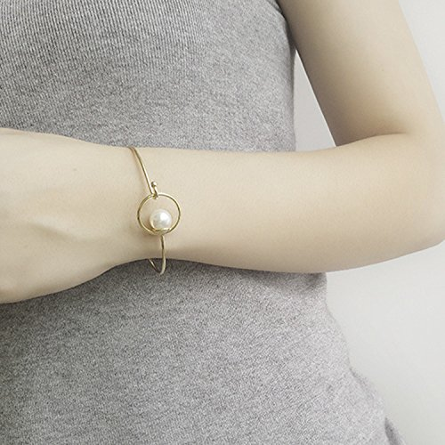 ean and American fashion wind station catwalk models simple geometric circle design pearl bracelet women girls bracelet ()