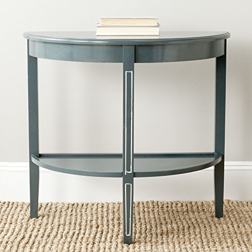 (Safavieh American Homes Collection Amos Steel Teal Console Table)