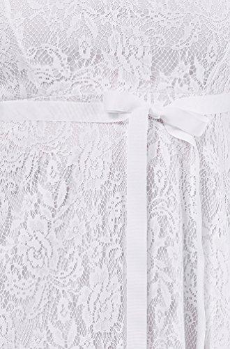 Womens Fashion Trendy Lace Fit Flare Sweatheart Bow Dress Plus Size USA WHT 3XL