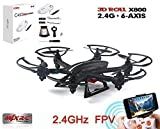 Feifan® (Black)mjx X800 Mini Quadcopter 2.4g 4ch 6-axis Rc Helicopter Drones with C4005 Camera Smaller Than MJX X600