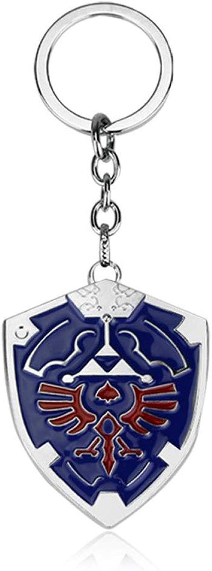 """Legend of Zelda Link Black Hylian Shield 2/"""" Metal Keychain US Seller"""