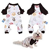 Per Dog Cat Pajamas with Lovely Monkey Pattern and Four Feet Design, Pet All Season PJS Jumpsuit for Small and Medium Sized Dog Puppy Cat Kitten - XS/S/M/L/XL