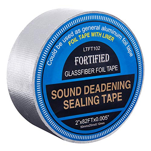 LUMITECO Rip Resistance Sound Deadening Application Finishing Sealing Tape, Sound Deadener Edge Banding Tape with Release Liner, Reinforced Glass Fabric Sealing Foil Tape- 2