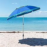 Tommy Bahama 7 Foot Beach Umbrella 2016 w/Tilt, Wind Vent, Sand Anchor, SPF/UPF100 - color choice