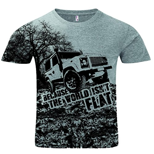 mens-sublimation-because-the-world-isnt-flat-4x4-off-road-racing-graphic-tee-grey-xl