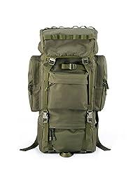 YAKEDA®Outdoor mountaineering bags tactical backpack shoulders bags male female waterproof bag large capacity camouflage backpack Internal frame pack 65L--A88018