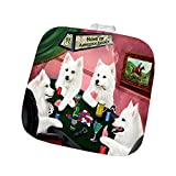 Home of American Eskimo 4 Dogs Playing Poker Pot Holder