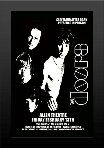 The Doors Concert Poster - The Doors - Live 1970 Retro Art Print — FRAMED — Print of Retro Concert Poster — Features Jim Morrison, Ray Manzarek, Robby Krieger and John Densmore .