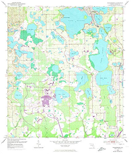 YellowMaps Windermere FL topo map, 1:24000 Scale, 7.5 X 7.5 Minute, Historical, 1953, Updated 1972, 26.8 x 23 in - Polypropylene
