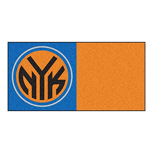 FANMATS NBA New York Knicks Nylon Face Team Carpet Tiles by Fanmats