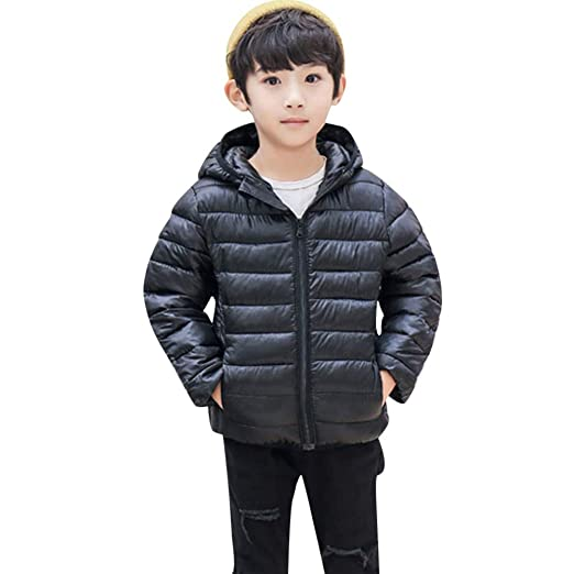 26cdb2437b49 Amazon.com  Vicbovo Kids Winter Coats with Hoods Long Sleeve Light ...