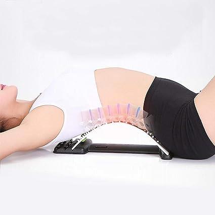 Dos civi/ère Bas Retour Brancard Lombaire Back Pain Relief Posture Correcteur Yoga Appareil Spine Massage Stretching Relax Fauteuil de Bureau Support Lombaire