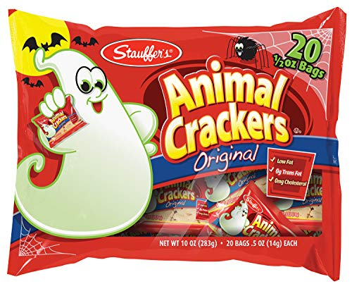 Stauffers Halloween Snack Packs, 0.50 oz. Bags (Set of 40) (Animal Crackers)