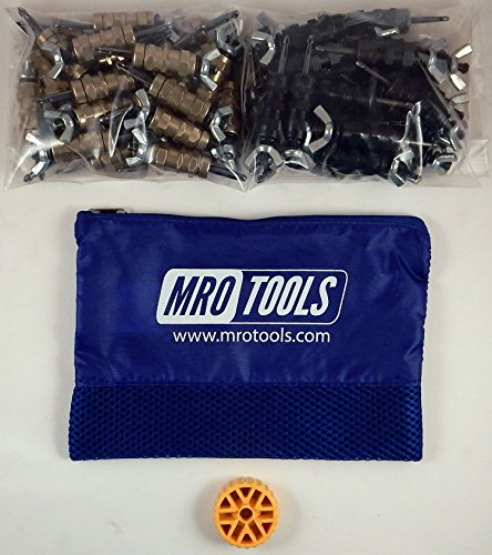 25 3/16 & 25 5/32 Standard Wing-Nut Cleco Fastener w HBHT Tool & Bag (KWN4S50-4) by MRO Tools Cleco Fasteners