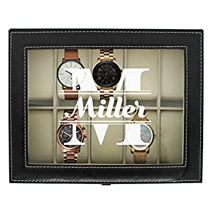 Engraved Watch Box for Men – Personalized Gifts for Him – Custom Husband Boyfriend Gift