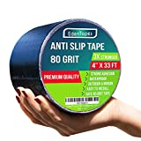 weather resistant outdoor step - EdenTapes Heavy Duty Anti Slip Traction Tape , 4 Inch x 33 Foot Grip Tape Grit Non Slip , Indoor, Outdoor Best Non Skid Stair Treads, High Traction Friction Abrasive Adhesive for Stairs Step - Black