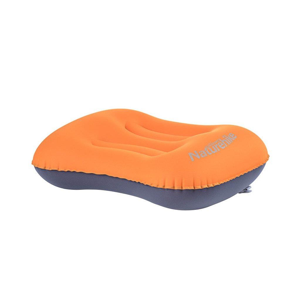 WINOMOオレンジInflating PillowポータブルコンパクトAirの枕ハイキングバックパッキング B077TCHDSX