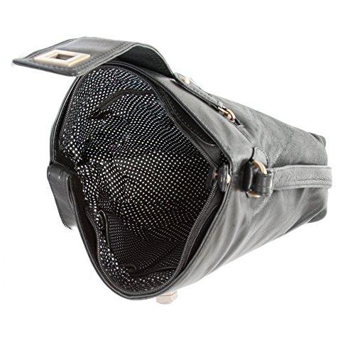 Premium Leather, Borsa a tracolla donna Nero nero