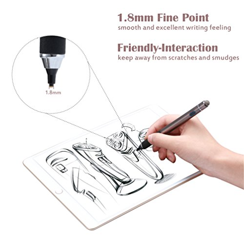 Active Stylus Pen, TEOYALL Rechargeable 1.8mm Fine Point Copper Tip Capacitive Digital Stylus Pen for iPhone, iPad pro, Samsung, Tablets, Android and other Capacitive Touch Screen Devices (Bronze) by TEOYALL (Image #1)