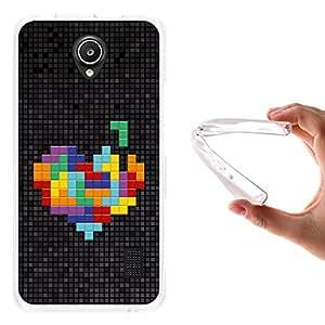 WoowCase - Funda Gel Flexible { Huawei Ascend Y635 } Pixel - Corazón Multicolor Carcasa Case Silicona TPU Suave