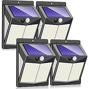 Claoner 【140 LED/3 Modes】 Solar Lights Outdoor, Wireless Solar Motion Sensor Security Light Solar Powered Lights…