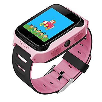 Smart Watch For Kids Gift With GPS Tracker Best Phone Watch History tracking, Birthday Holiday Camera Touchscreen SOS for iPhone Android Smartphone Pedometer for Children Boys Girls
