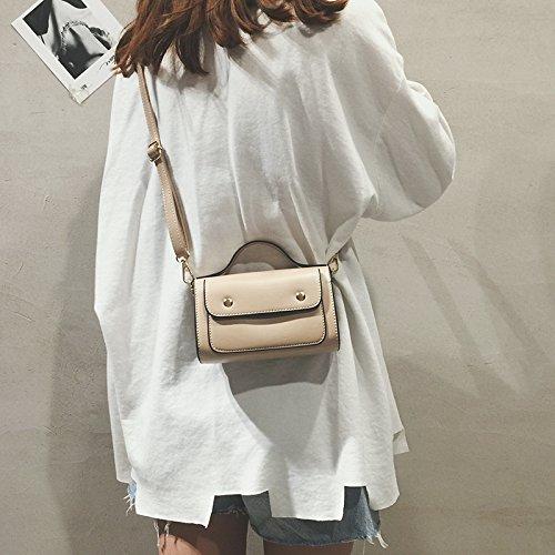 ZHANGJIA Chi C Bolsa Bolso de Moda,Brown Khaki