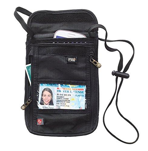 Lewis N. Clark Rfid Neck Stash Hidden security Wallet Pack of 2