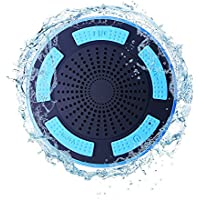TOMROW Mini Bluetooth Speakers,Portable Wireless Shower Speaker Built In Microphone, Aux and TF Card Port Works for Ipad/Iphone and Other Bluetooth-enabled Device (Suction Cup Speaker)