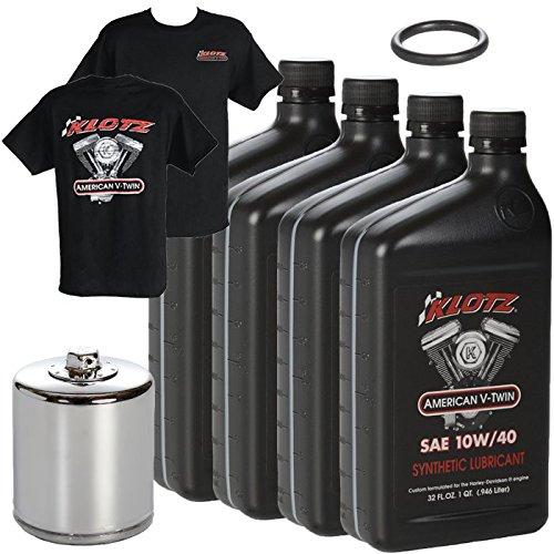 Klotz V-Twin Full Synthetic Oil Change Kit, 10W/40-4 Quarts (KN ()