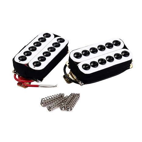 SUPVOX Pastillas de guitarra eléctrica Humbucker Double Coil Transductor de recogida de metal para guitarra acústica