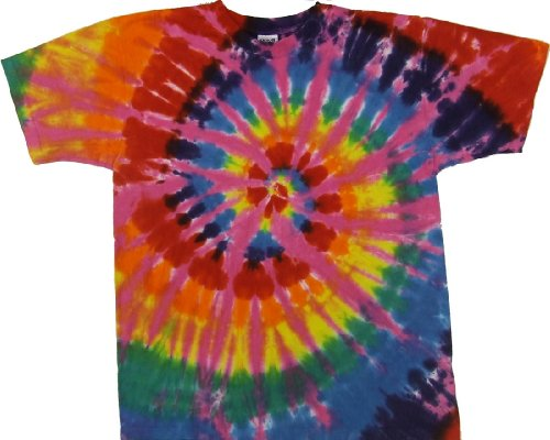 Tie Dyed Shop Rainbow Pink Spiral Tie Dye T Shirt-2X-Multicolored (Tie Dyed Shirt)