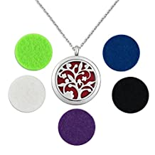 Charmed Craft Tree Of Life Essential Oil Diffuser Aromatherapy Necklace Stainless Steel Locket Pendant Necklace
