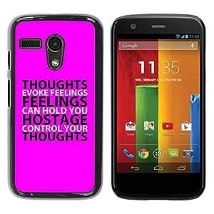 Estuche Cubierta Shell Smartphone estuche protector duro para el teléfono móvil Caso Motorola Moto G 1 1ST Gen I X1032 / CECELL Phone case / / BIBLE Feelings /