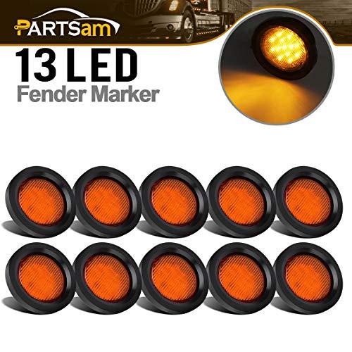 Partsam 10 Pcs Amber 2.5