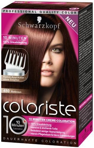 Haarfarben dunkel rotbraun