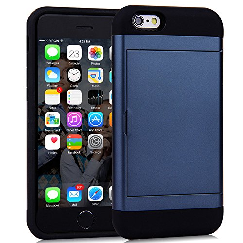 - Wallet Case for iPhone 8, Resistant Protective Shell Wallet Cover Navy Blue