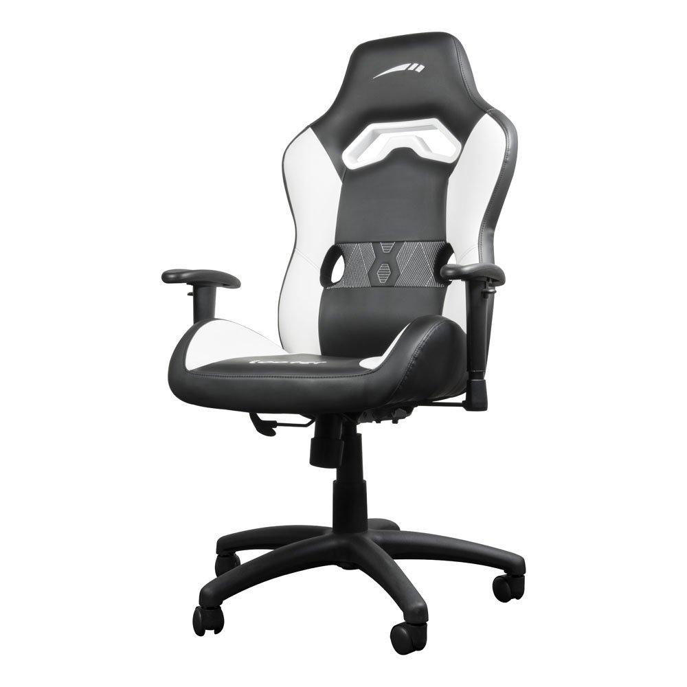 Speedlink Looter Gamingstuhl, ergonomischer Bürostuhl, Schreibtischstuhl, Drehstuhl, Drehstuhl, Drehstuhl, Gaming Chair, Racing Stuhl, Sportsitz, Chefsessel aus hochwertigem PVC Leder in schwarz   weiß a74bef