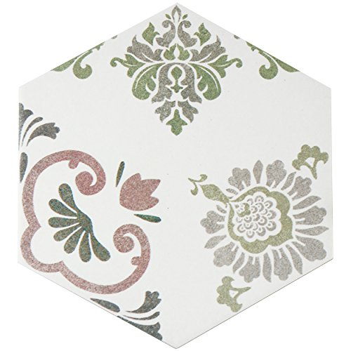 somertile-fcd10fpx-fantazia-hex-porcelain-floor-and-wall-tile-8625-x-9875-white-green-grey-pink
