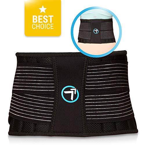 Bodymate Lower Back Pain Relief Lumbar Support Breathable Mesh Back Brace Belt Treatment of Sciatica, Scoliosis, Herniated Disc or Degenerative Disc Disease (Up to 42 Inches)
